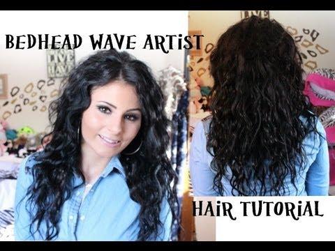 Hair Tutorial: BedHead Wave Artist ♡ - YouTube
