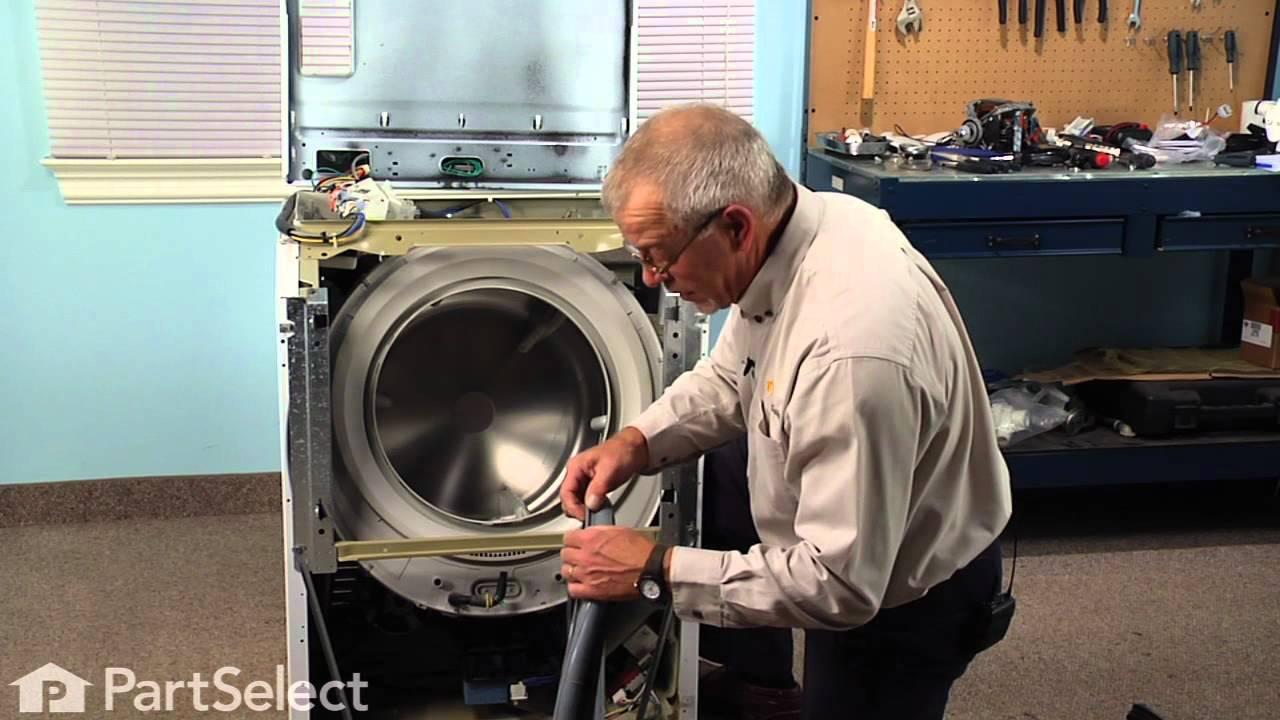 Washing Machine Repair Replacing The Bellow Whirlpool