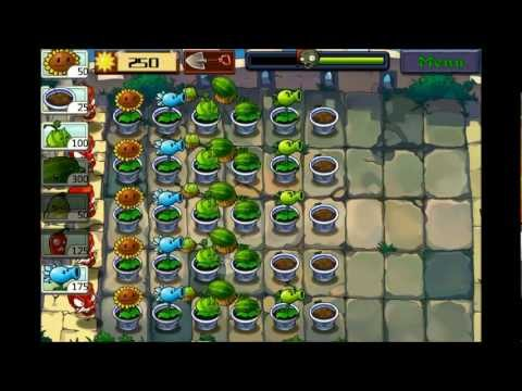 Plants Vs. Zombies Chinese Update Gameplay (植物大战僵尸)