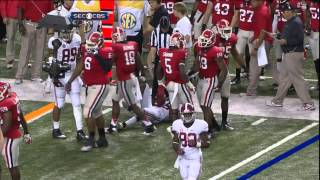2012 SEC Championship - #2 Alabama vs #3 Georgia