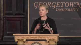 Hillary Clinton Discusses Energy Diplomacy at Georgetown