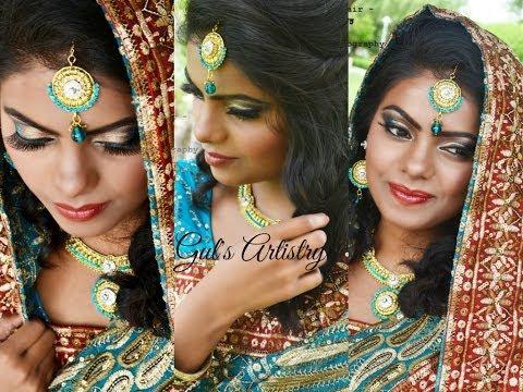 Indian Pakistani Asian Bridal Makeup and Hairstyle, Wedding Makeup | GulsArtistry