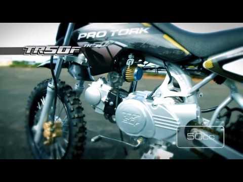 Mini Moto Pro Tork TR50F e TR100F - Motocross e trilha
