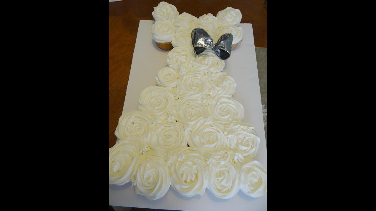 Wedding Gown Pull Apart Cupcake Cake