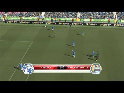 PES 2014 Gameplay - Chelsea VS Manchester City (Licenciados)