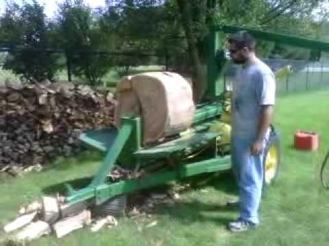 Homemade Log Splitter Youtube
