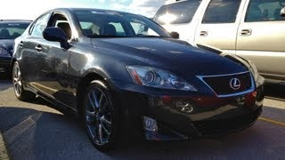 2008 Lexus IS 250 Start Up, Quick Tour, & Rev With Exhaust View - 84K videos