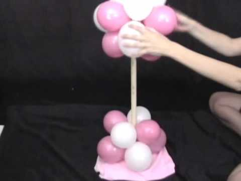 Party decorations how to make a balloon tree decoration for Balloon decoration ideas youtube