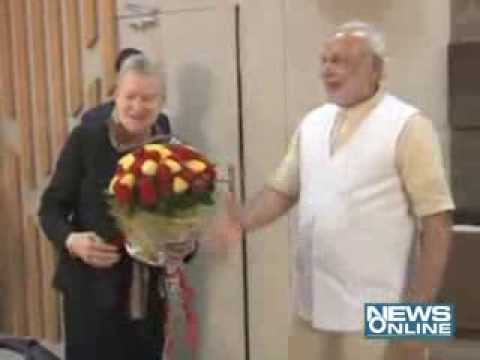 nancy powel visit modi and shankersinh vaghela