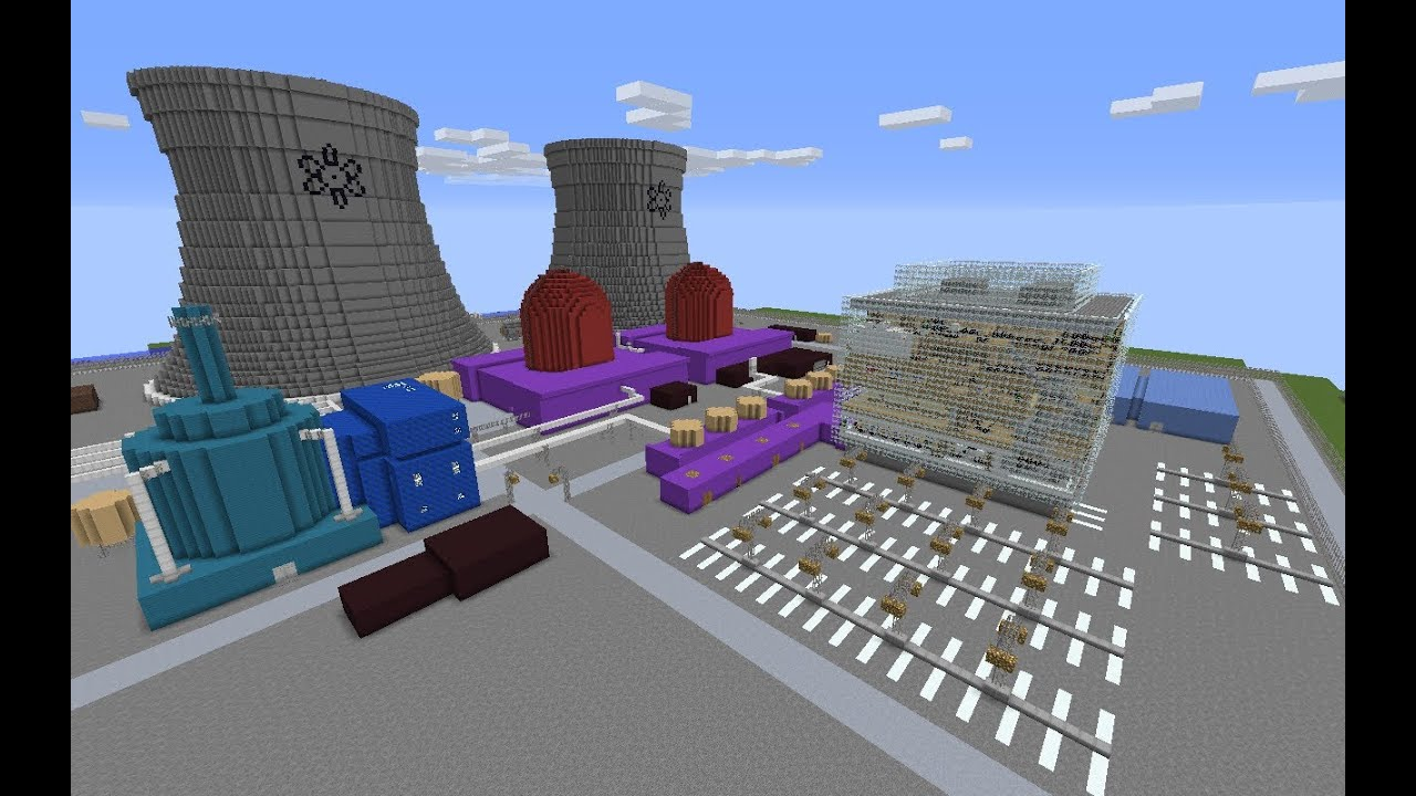 how to make a nuclear reactor in minecraft