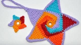 "Advent Calendar * December 20 * Crochet Star ""Tutti Frutti"