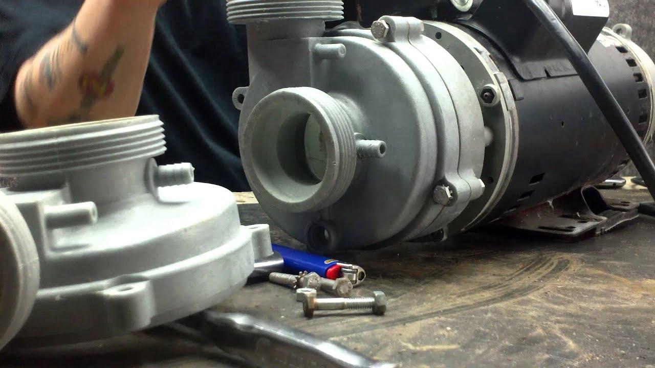 Cal spas dually pl351 1014159 pump repair part 002 youtube for Cal spa dually pump motor