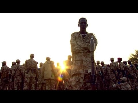 DRAMATIC FOOTAGE OF AMBUSH BATTLE IN SOUTH SUDAN - BBC NEWS