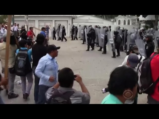 Mexican protests continue as students go missing