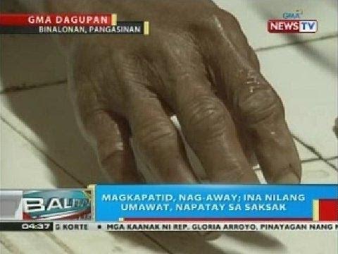 Magkapatid sa Pangasinan, nag-away; ina nilang umawat, napatay sa saksak