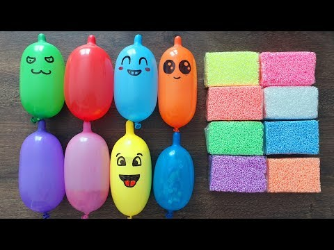 Making Slime with Funny Balloons and Foam Bricks #11