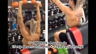 Juju Salimeni Fazendo Treino De Braços. 21/01/2014