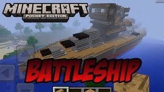 EPIC Minecraft PE Battleship W/ Download