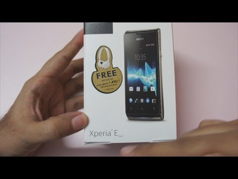 Sony Xperia E Unboxing a Budget Android Phone