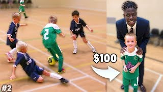 I Donated a Kid $100 Football Boots Again If His Team Wins Soccer Match