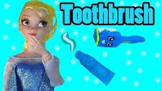 Disney Frozen Queen Elsa Toothbrush Brushing Teeth