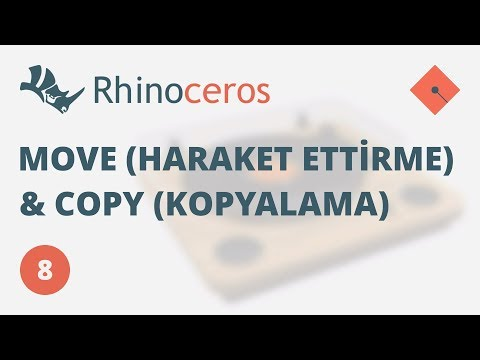 Yakın Kampüs – Rhinoceros 4 – Ders 8 – Move (Hareket Ettirme) ve Copy (Kopylama) Komutları