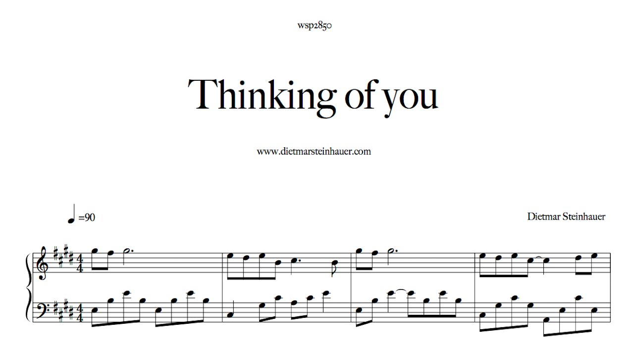 Thinking of you youtube for Dietmar steinhauer