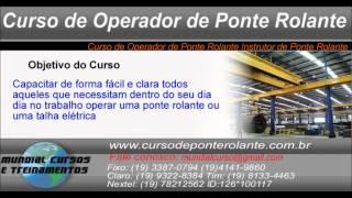 Curso de Operador de Ponte Rolante Instrutor de Ponte Rolante   - youtube