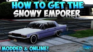 GTA 5 Rare Cars How To Get The Rare Snowy Emperor Online