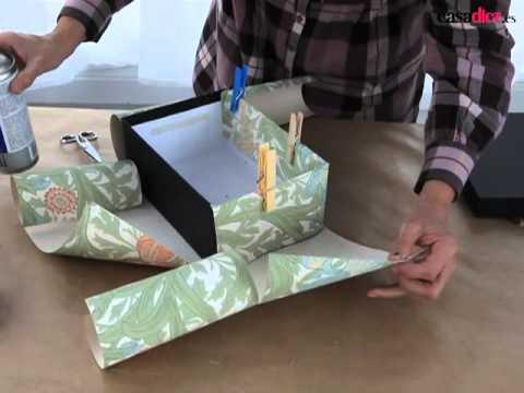 Como forrar una chimenea de carton