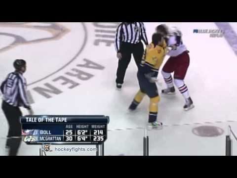 Jared Boll vs Brian McGrattan Nov 19, 2011