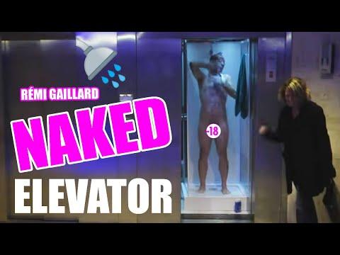 image vidéo Rémi Gaillard prend un douche dans un ascenseur