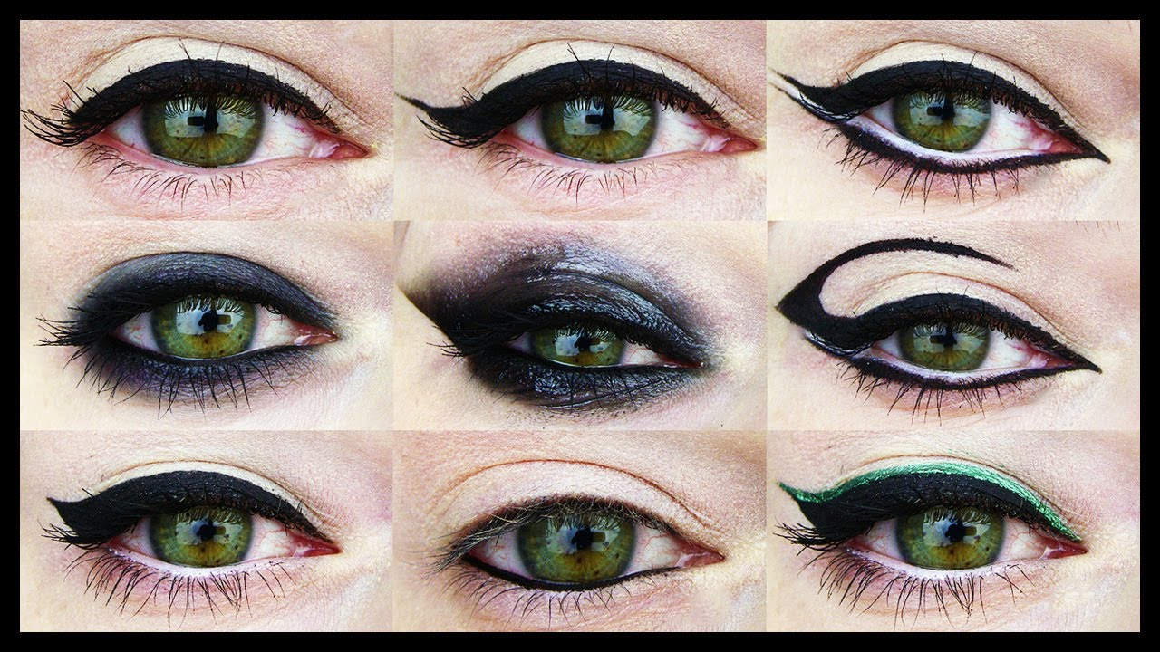 Makeup on eyes different styles