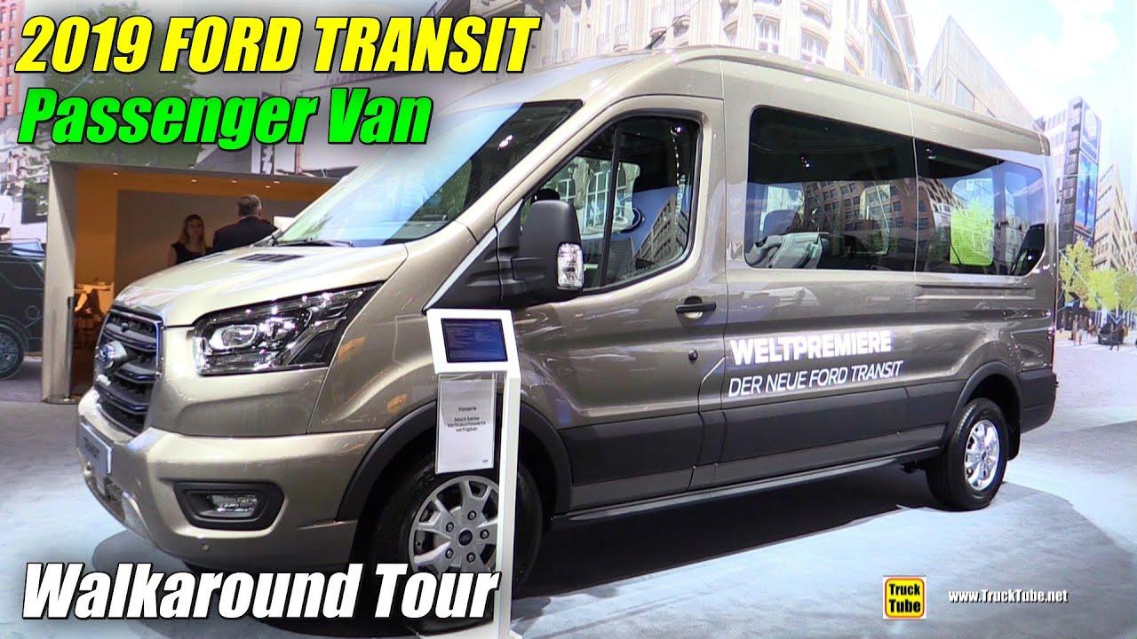 Ford Transit Passenger Van >> 2019 Ford Transit Passenger Van Exterior And Interior Walkaround Debut At 2018 Iaa Hannover