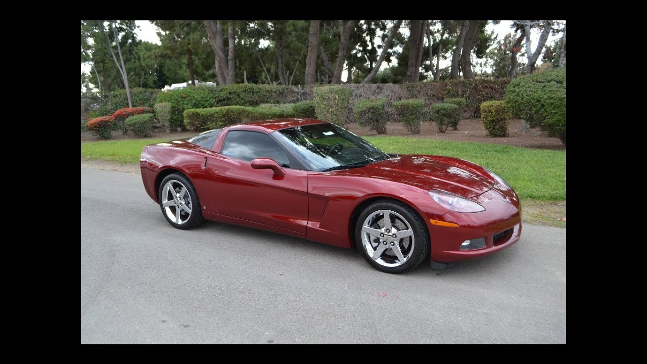 sold 2007 chevrolet corvette coupe monterey red for sale. Black Bedroom Furniture Sets. Home Design Ideas