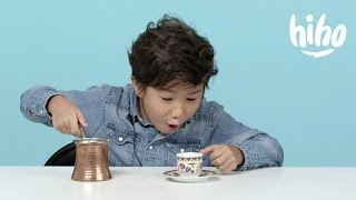 Coffee | American Kids Try Food from Around the World | Ep 7