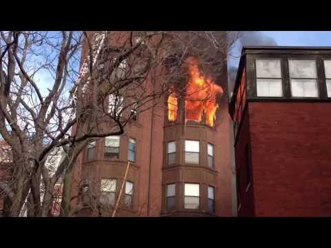 Raw video: Multi-alarm fire in Boston apartment building