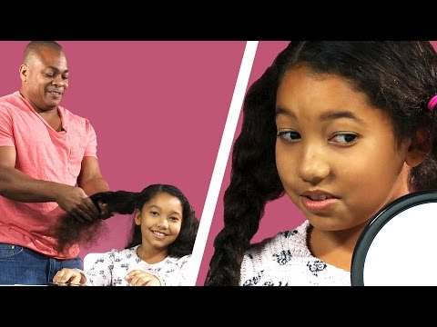 Dads Style Their Daughters' Hair For The First Time