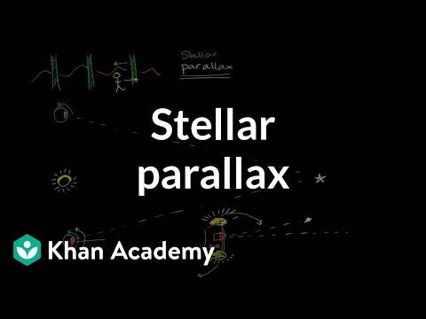Stellar parallax | Stars, black holes and galaxies | Cosmology & Astronomy | Khan Academy
