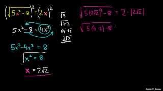 Reševanje enačb s korenom 3