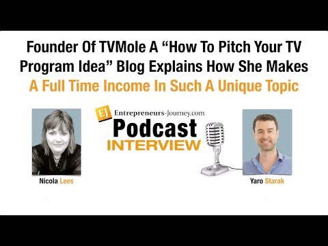 Nicola Lees: Founder Of TVMole Blog Explains How She Makes A Full Time Income In Such A Unique Topic Video