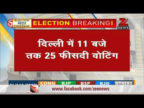 Elections 2014: Around 25% voting in Delhi till 11 am