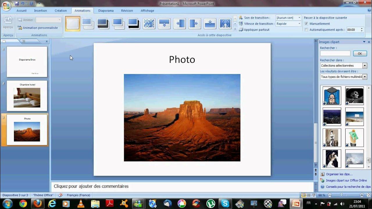 faire un diaporama avec powerpoint 2007 avi