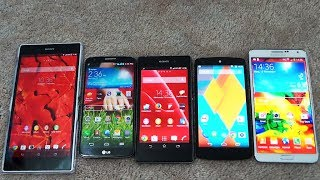 Note 3 Vs Xperia Z1 Vs Lg G2 Vs Xperia Z Ultra Vs Nexus 5