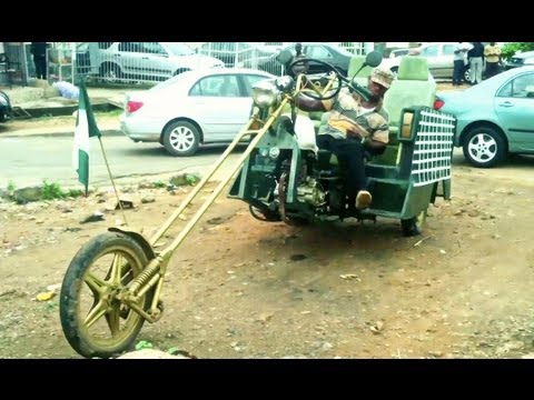 CRAZY! Nigeria's Home-Made Limousine & Hummer-Jeep!