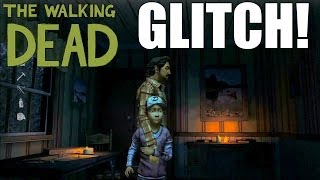 """FUNNY GLITCH """"Slender Man"""" The Walking Dead Season Two Funny Gameplay Moment"""