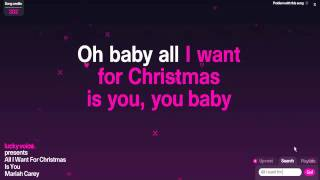 Mariah Carey-All I Want For Christmas Is You (Karaoke