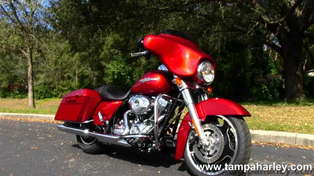 New 2013 Harley Davidson Flhx Street Glide Ember Red