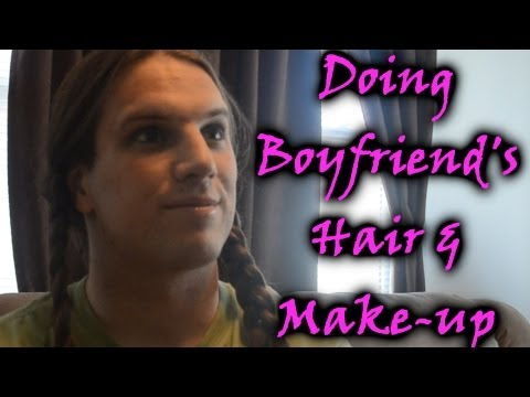 How to Force your Boyfriend to Crossdress : Step 5 Hair and Make-Up