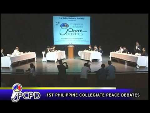 Philippine Collegiate Peace Debates Part 1